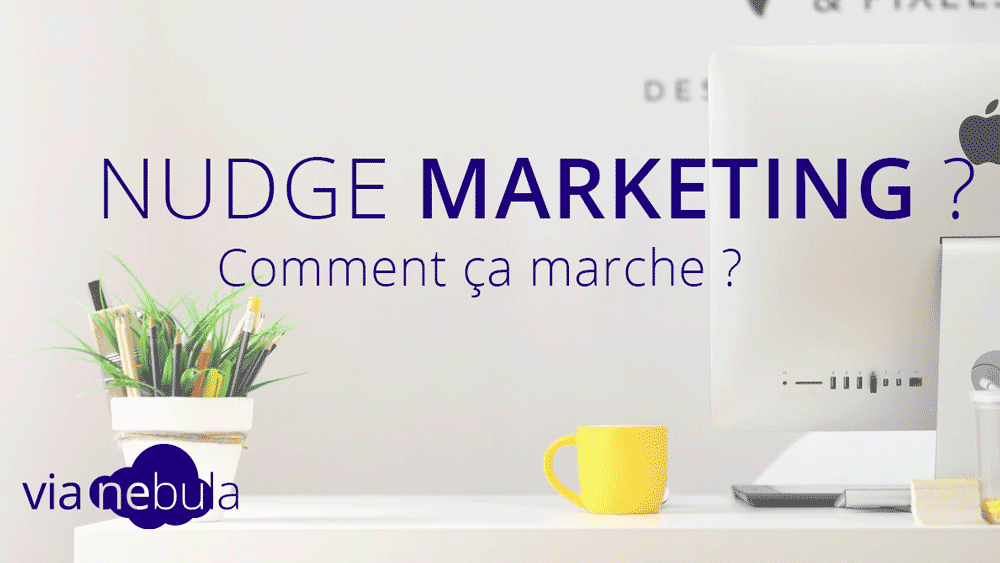 Un bureau pour illustrer le nudge marketing